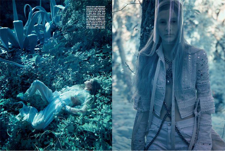 Vogue Italia marzo 2016  Gli Elfi, figli degli alberi, popolo immerso nella natura, sono creature dai capelli biondi e luminescenti, dalla carnagione