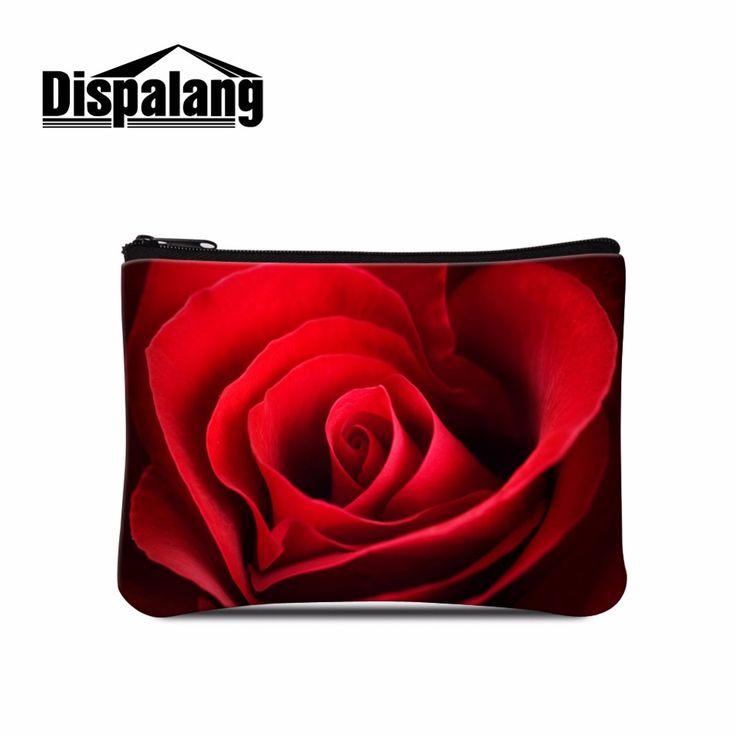 Спандекс Coin Кошельки Упругие Кошелек для Женщин Цветок Розы Напечатаны Девушки Монет сумка Повседневный Стиль Дети монета сумка Цветочный Молнии