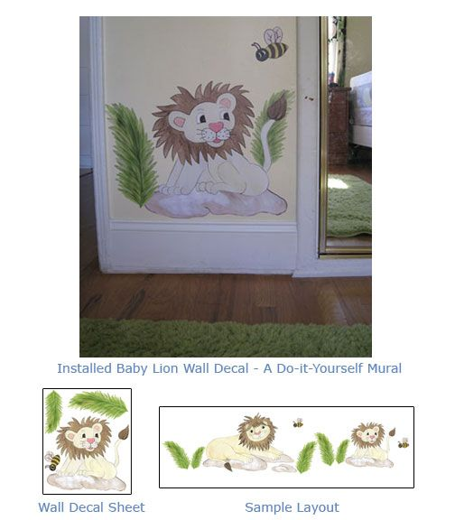 Lion Wall Art   Decals   A Do It Yourself Wall Mural! $40 Part 67