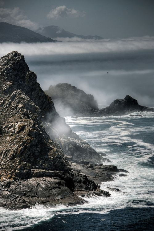 Islas Cies (by J~Photo)  Open Atlantic side proves the power of the ocean.
