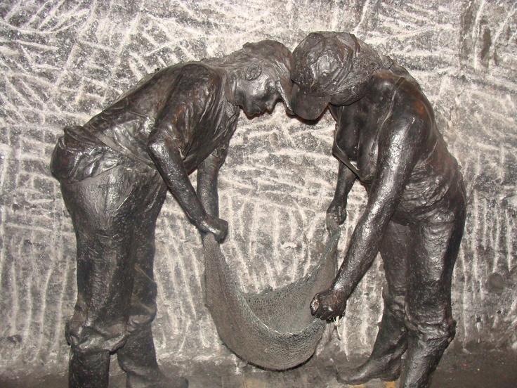 Mining the salt at Zipaquira Salt Mines, Colombia