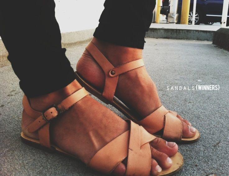 nude leather sandals elfsacks   elfsacks
