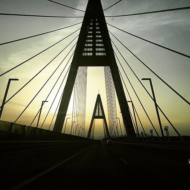 Sundown on the way home #sundown #bridge #budapest #hungary #architecture #home