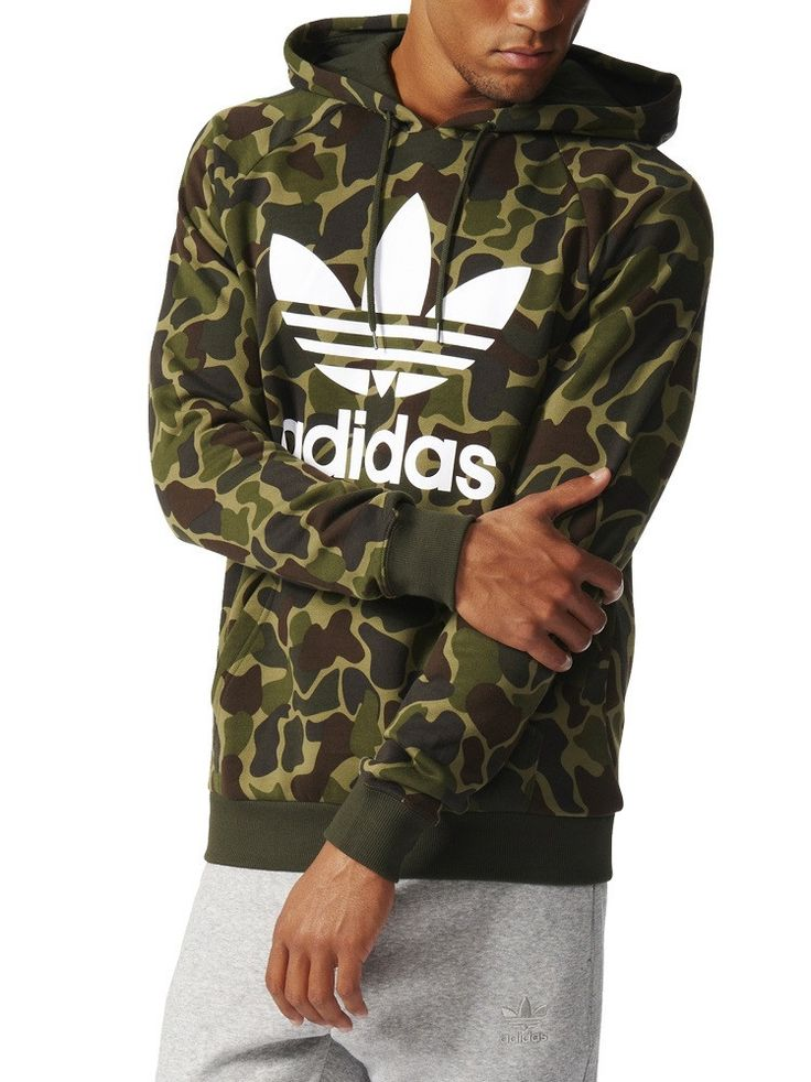 adidas Trefoil Hoody - Camo – West Brothers #adidas #trefoil #hoody #hoodie #camo
