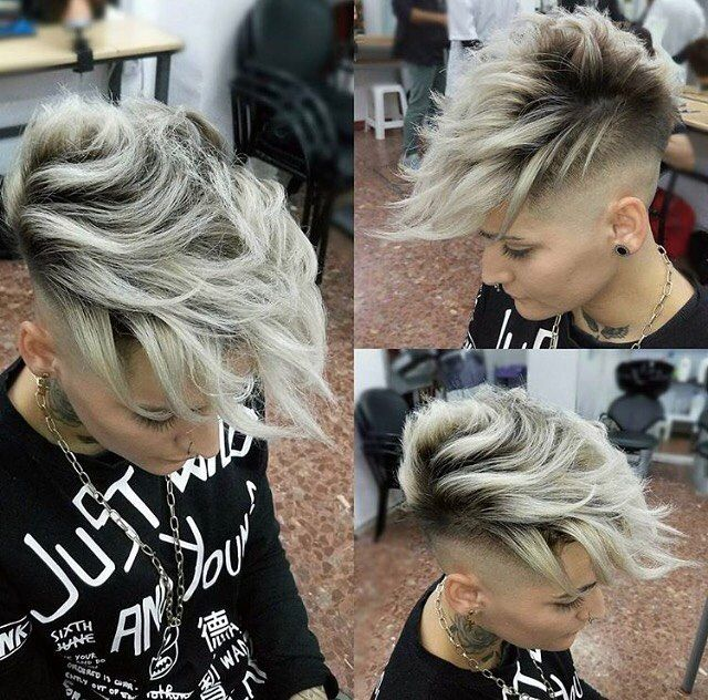 """2,763 Likes, 33 Comments - #BuzzCutFeed (@buzzcutfeed) on Instagram: """"Platinum Faded Faux Hawk Cut By @kike_if  Model @blv9k_whx7x__nowme___  #UCFeed #BuzzCutFeed…"""""""