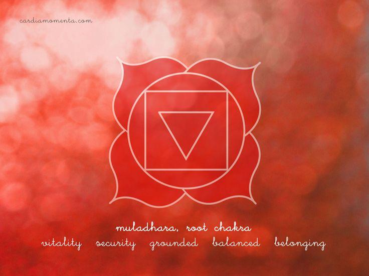 Muladhara, root chakra greeting card