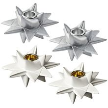 Candle Holders - shaped like traditional Scandinavian / Danish Christmas Stars.