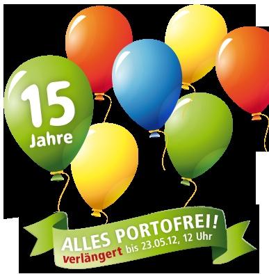 Wir gehen in die Verlängerung! Alles portofrei bis 23.05.2012, 12 Uhr