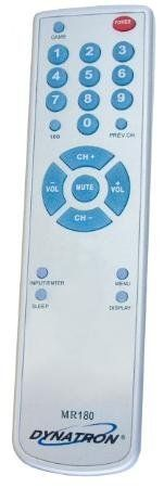Dynatron Miracle Full Function Replacement Remote Game Input Button Channel Auto Programming by Dynatron. $28.99. Note: This is not an original Emerson, Sylvania, or Symphonic product.  Works Emerson, Sylvania, and Symphonic TV's only.  Will not operate TV/VCR or TV/DVD Combo units.. Save 46% Off!