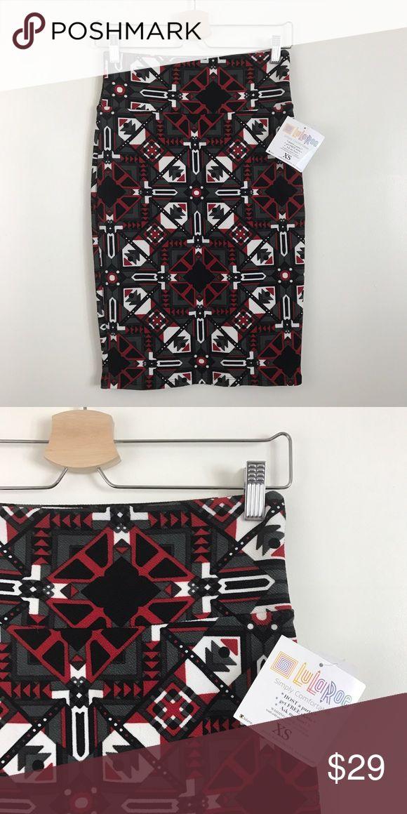 NWT Lularoe Cassie black red pencil skirt. New with tag. Lularoe cassie pencil skirt. Black red. Size XS LuLaRoe Skirts Pencil