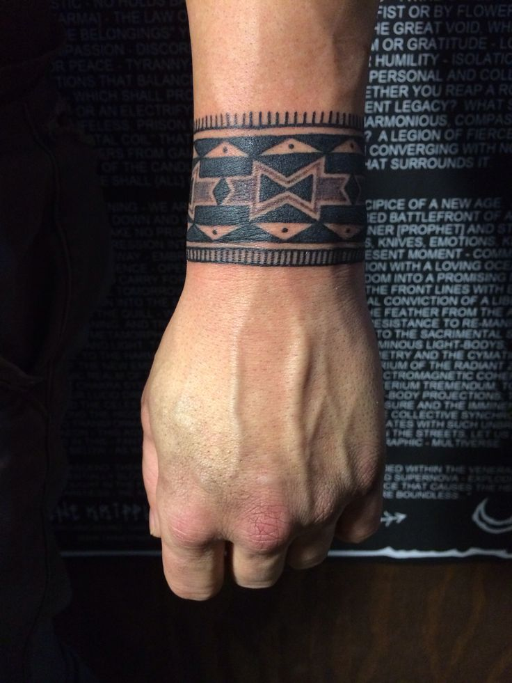 Wrist Tribal Tattoos For Guys
