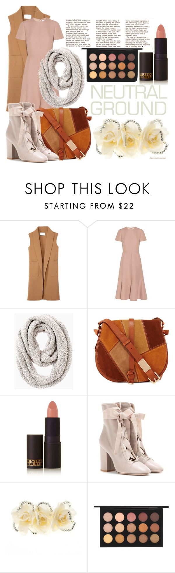 """Cool Neutrals"" by chezqah-agnir ❤ liked on Polyvore featuring Alexander Wang, Valentino, Chico's, Foley + Corinna, Lipstick Queen, Johnny Loves Rosie and MAC Cosmetics"