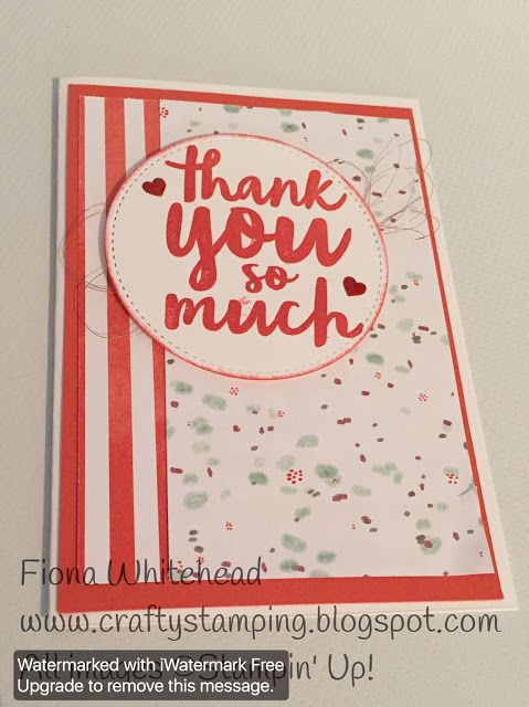#GDP082 - Stampin' Up! Thankful Thoughts - www.craftystamping.blogspot.com