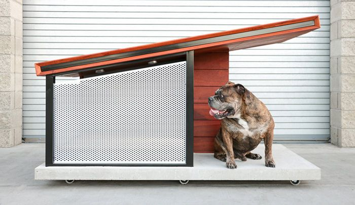 MDK9 Dog Haus este cea mai tare cusca pentru patrupedul tau. Are un design minimalist, inspirat de casele moderne. #MDK9 #DogHaus #dogs #animaledecompanie #design