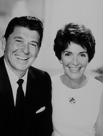 President Ronald Reagan with wife Nancy