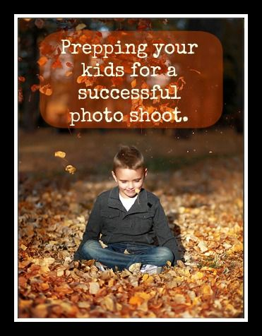 Great ideas on prepping your kids before a photo shoot to get the best family portraits. Some fantastic tips for a successful photo shoot.