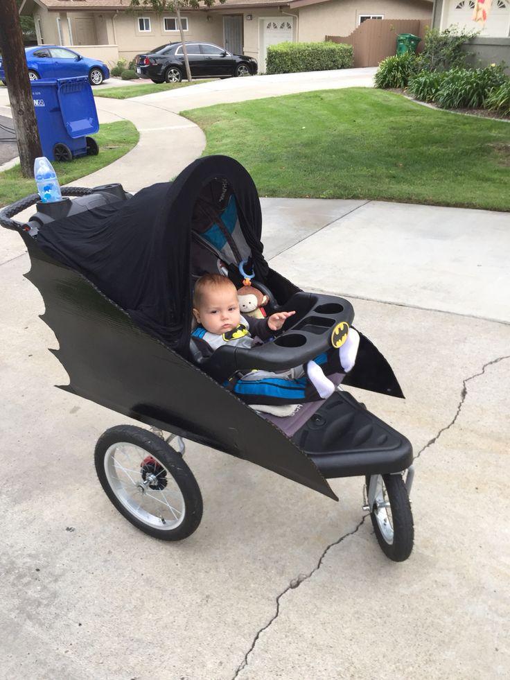 Batman baby costume stroller.