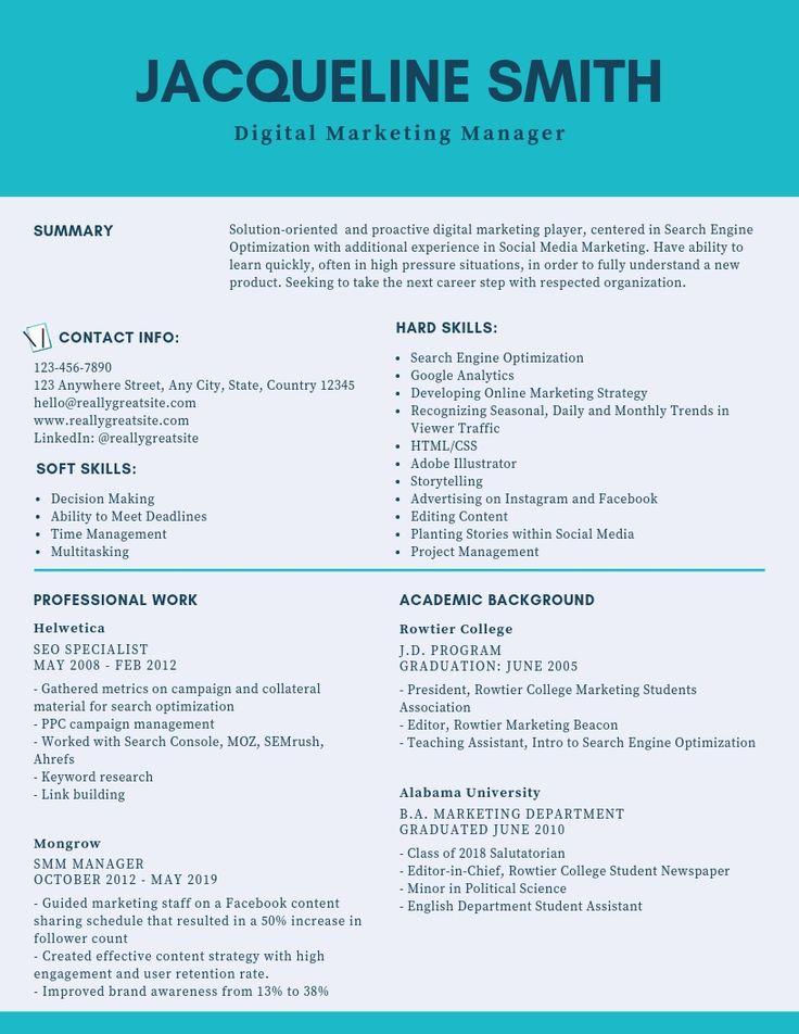 Digital Marketing Manager Resume Samples & Templates [PDF