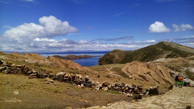 wonderful colors@ isla del Sol in Lake Titicaca Peru