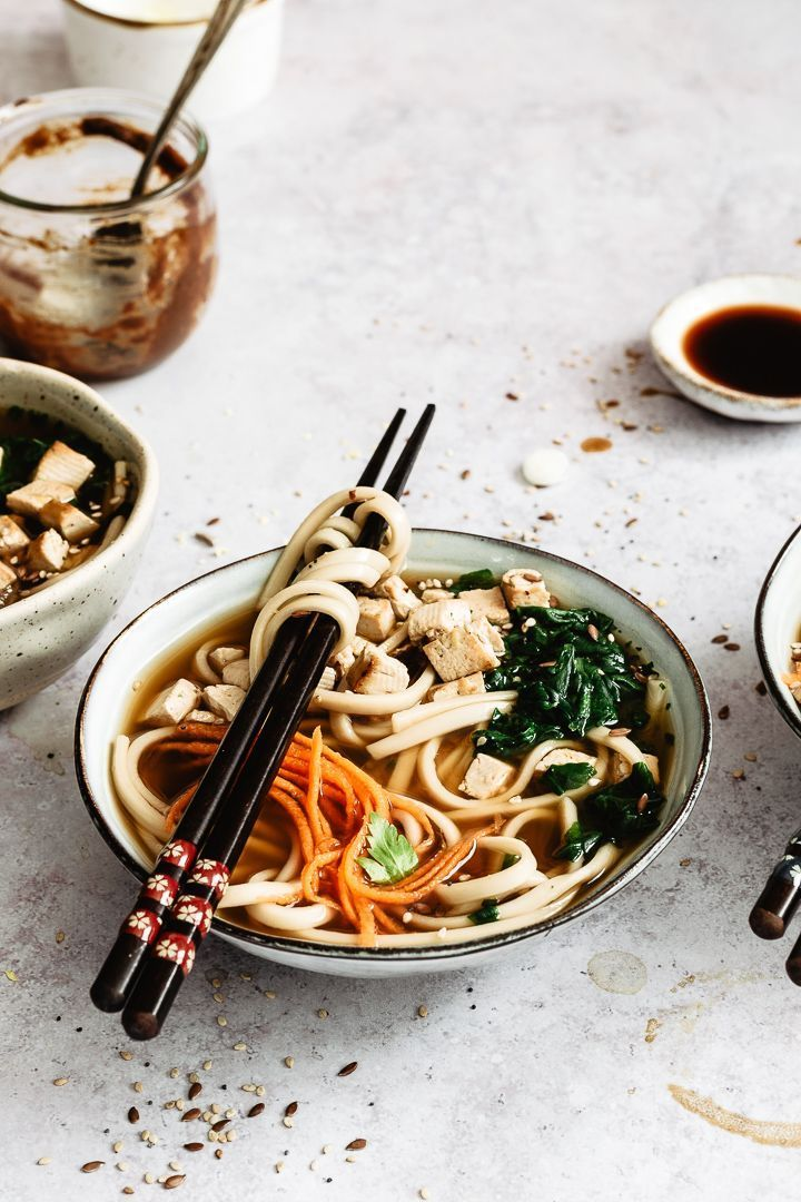 Vegan Miso Soup With Tofu And Udon Noodles Easy Recipe Asian Food Photography Vegan Miso Soup Vegan Noodles