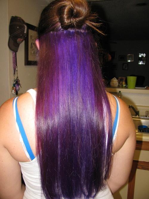 Purple Underneath Beautious Pinterest Hair