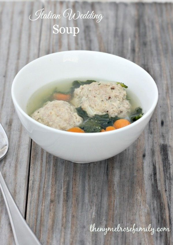 Italian Wedding Soup is a light and easy soup perfect for those cold ...
