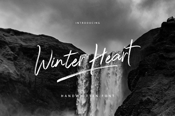 Winter Heart Brush by Realtype.co on @creativemarket