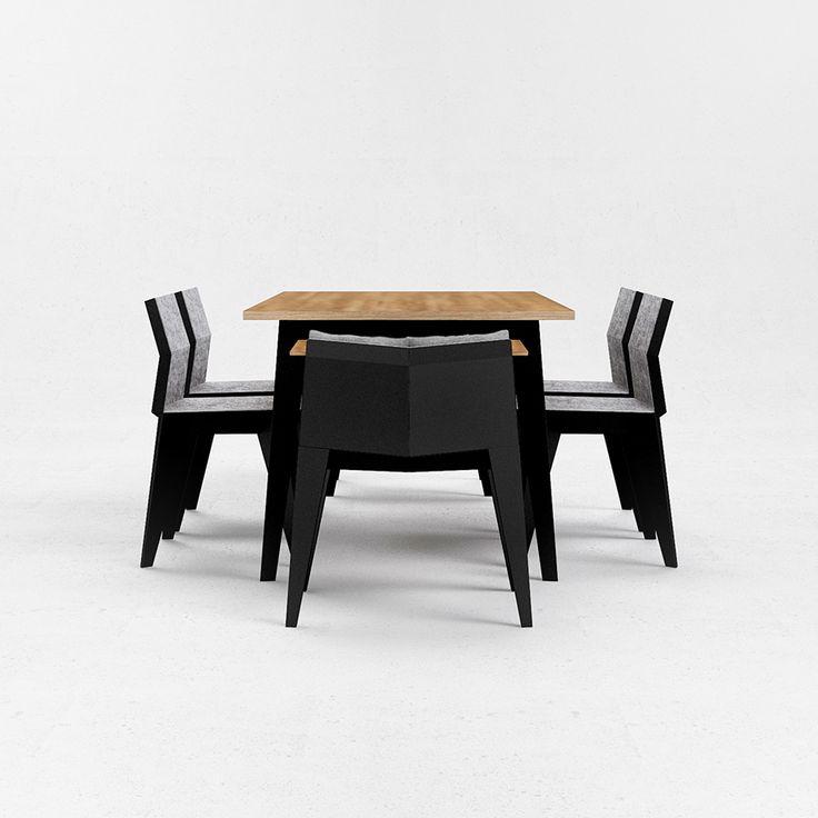E5 table by Ukrainian design bureau ODESD2. Designer: Nikita Bukoros.