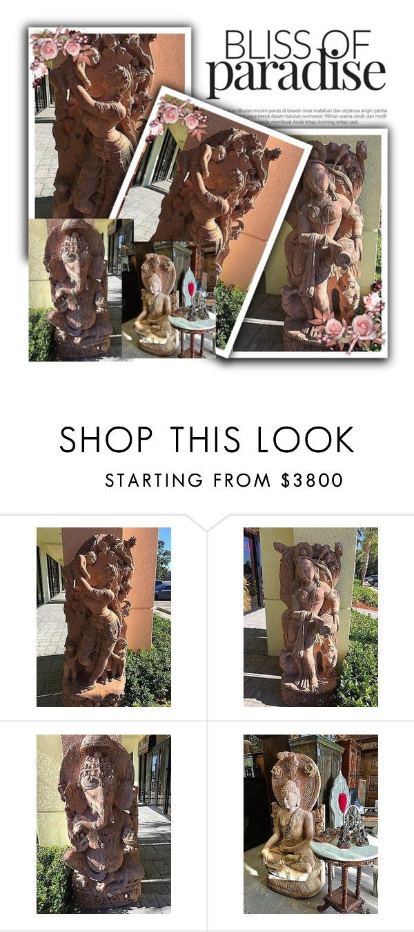 Antique Stone Hand Carved Garden Statue by baydeals on Polyvore featuring interior, interiors, interior design, home, home decor, interior decorating, Apsara, homedecor, antique and statue   http://stores.ebay.com/mogulgallery/Statue-/_i.html?_fsub=1641682219&_sid=3781319&_trksid=p4634.c0.m322