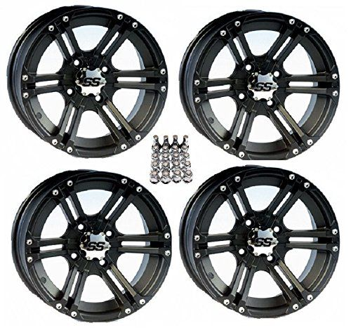 "ITP SS212 ATV Wheels/Rims Black 14"" Honda Foreman Rancher SRA. For product info go to:  https://www.caraccessoriesonlinemarket.com/itp-ss212-atv-wheelsrims-black-14-honda-foreman-rancher-sra/"