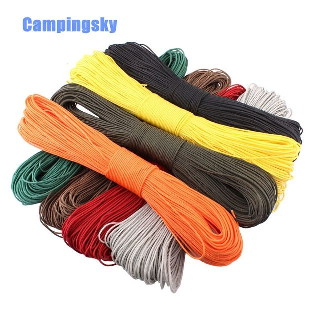 Paracord 2mm One Stand Cores Paracord For Survival Parachute Cord Lanyard Camping Climbing Camping Rope Hiking Review Paracord Paracord Parachute Cord 55