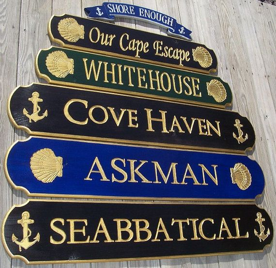 Personalized Beach House Plaques: Quarterboard Signs . . Beach House Sign . . Cottage Sign