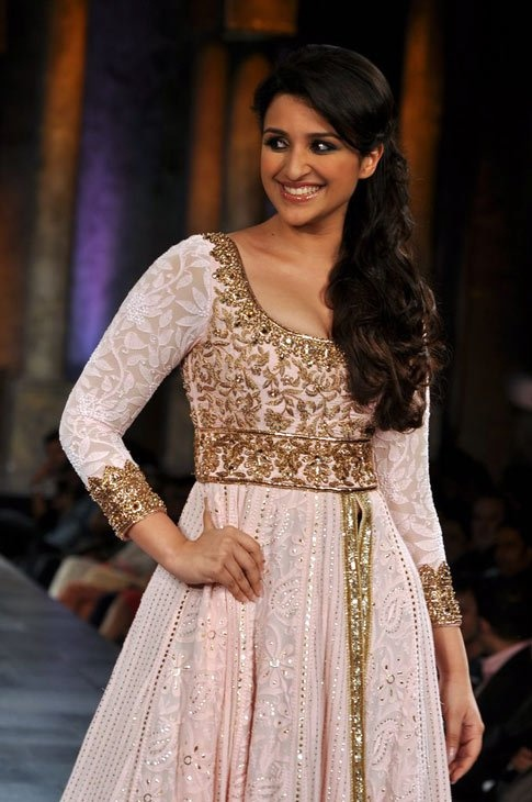 Soft Pink Anarkali....or maybe this one, someone might have to help me choose:)