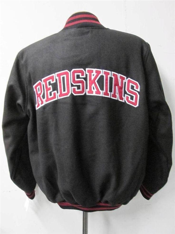 Washington Redskins Mens Size Large Snap Up Wool Blend Jacket NWT 139.99 bb 8143  | eBay