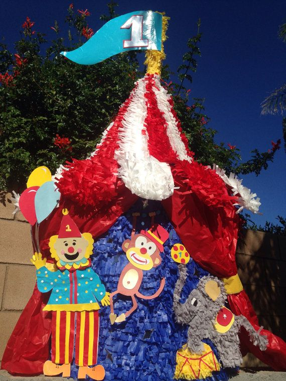 Circus Tent custom hand made piñata under the big top ...