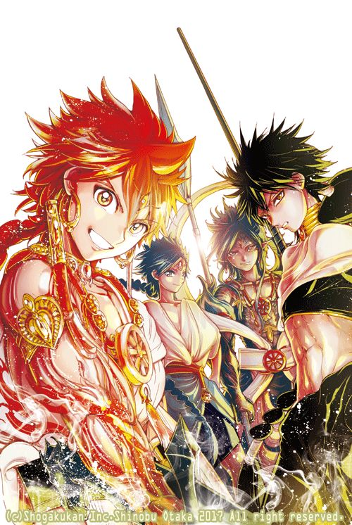 Magi: Labyrinth of Magic Magi: Kingdom of Magic Alibaba, Judal, Aladdin, Hakuryuu