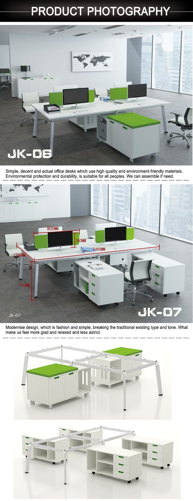 Factory wholesale price 4 seat modern office workstation cubicle for sale