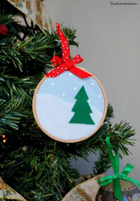 Swanocean: Embroidery hoop ornament-Στολίδι με τελαράκι κεντήματος