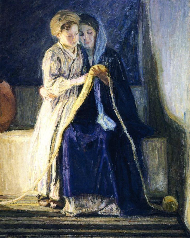 """""""Cristo y su Madre estudio de las Escrituras Henry Ossawa Tanner, 1910"""""""