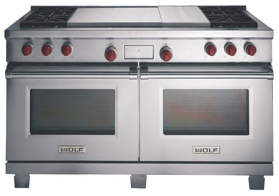 Wolf dual fuel stove oven range