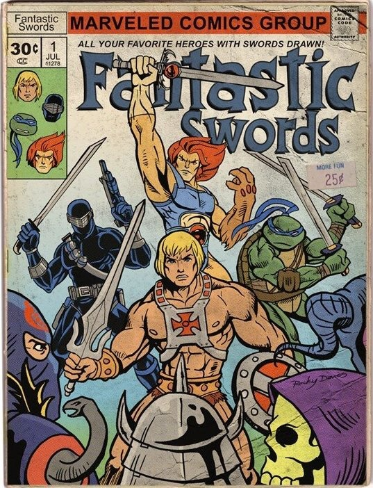Fantastic Swords. Collected comics as a kid but never saw this one - pretty cool!