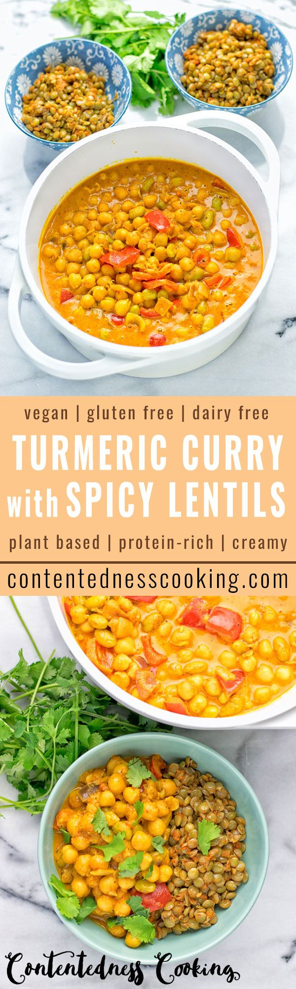 This Turmeric Curry with Spicy Lentils is filling, insanely delicious and super easy to make. Entirely vegan, gluten free and packed with fantastic flavors.
