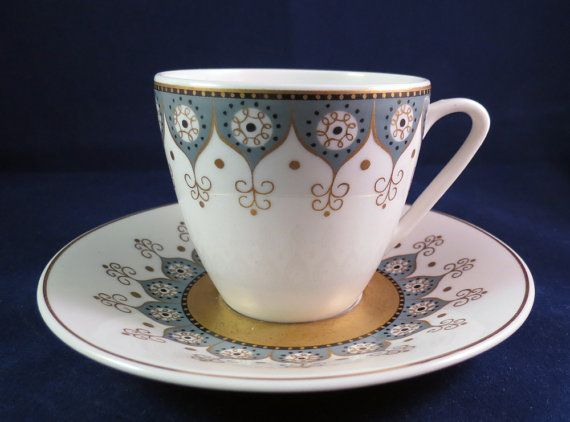 Arabia of Finland Katinka Coffee cup and saucer $38.48 at Nordicvintagedesigns