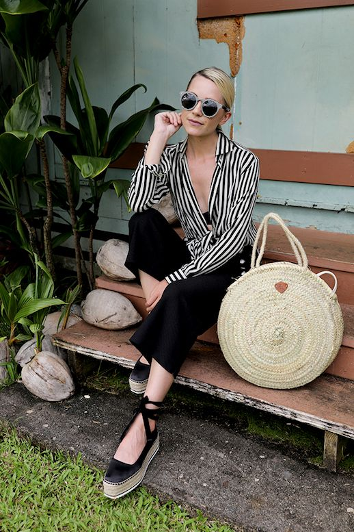 Blogger Style: Stripes and Chunky Espadrilles