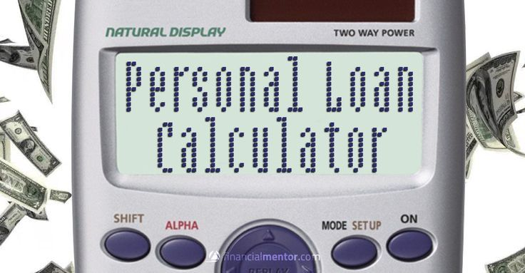 Personal Loan Calculator: figures your monthly payment and total interest cost b