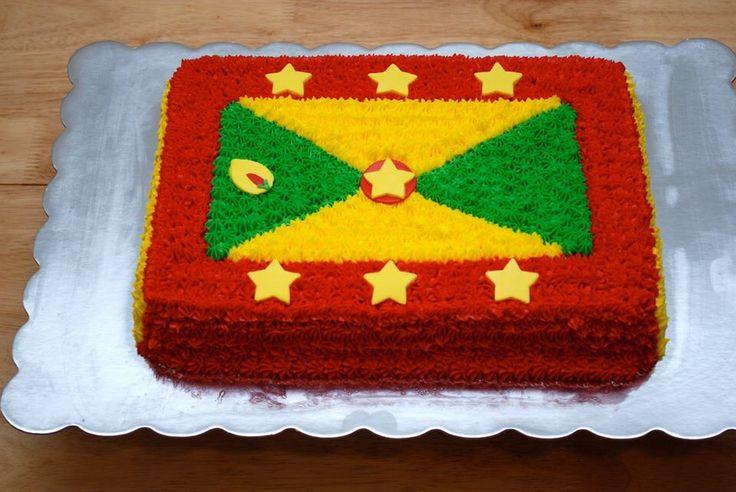 Grenada flag cake