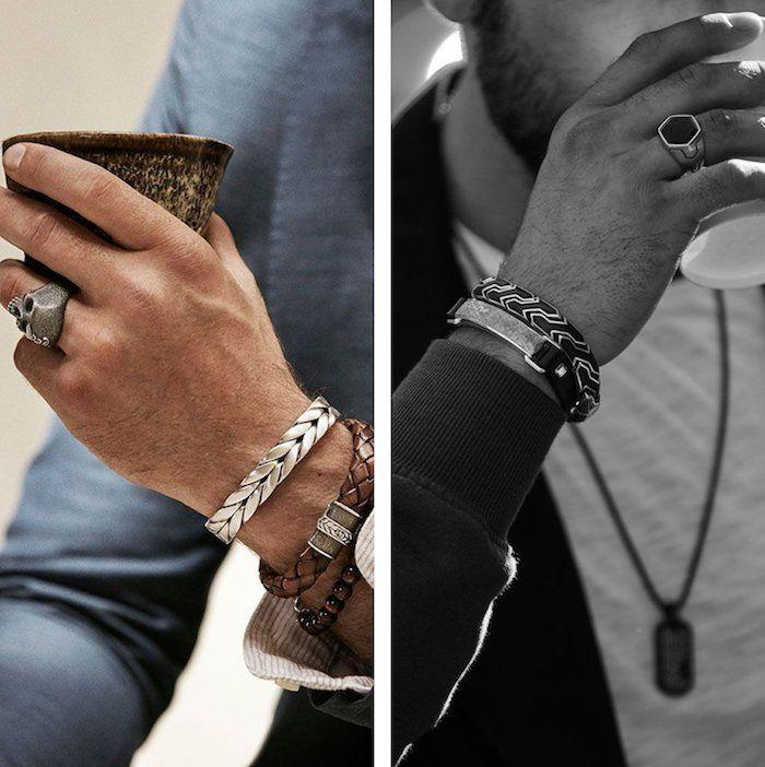 bijoux argent homme collier
