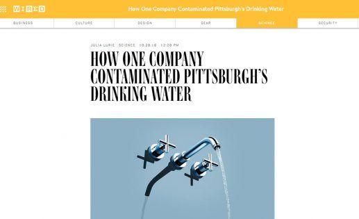 Άρθρο του Wired: «Πώς μια εταιρία μόλυνε το πόσιμο νερό στο Πίτσμπουργκ» http://www.savegreekwater.org/archives/4707 https://goo.gl/ZH7BTV