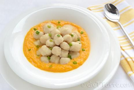 Молочный тыквенный суп с ньокки