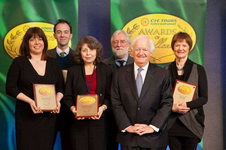 Connacht 'Visits' - 2014 Awards of Excellence winners with Brian Stack, Managing Director of CIE Tours International: Boyle Abbey, Cnoc Suain, Dún Aonghasa Fort, Westport House, Kylemore Abbey. Photo: John Ohle. #cieawards — at Dublin Castle.